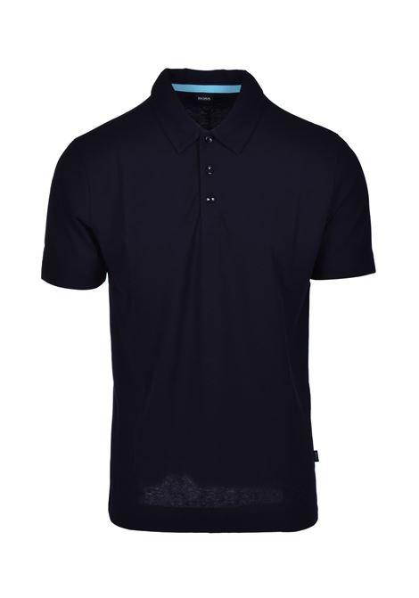 Polo paino in cotone leggero - blu scuro BOSS | Polo | 50423313402