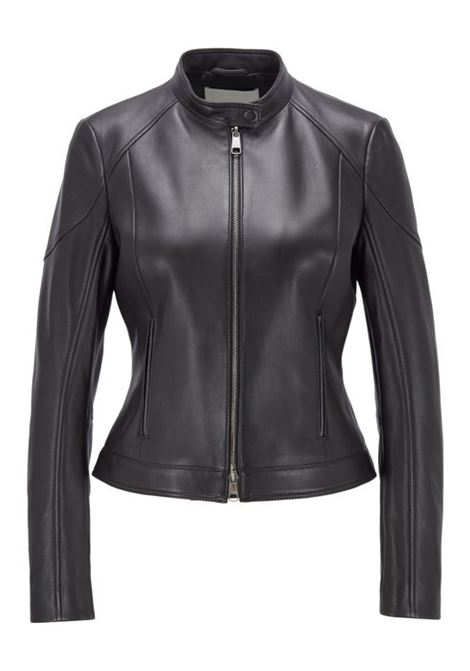 Regular-fit jacket in lamb leather with stand collar BOSS | Jackets | 50423440001