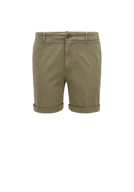 Regular-fit chino shorts in stretch cotton satin BOSS | Trousers | 50423518252