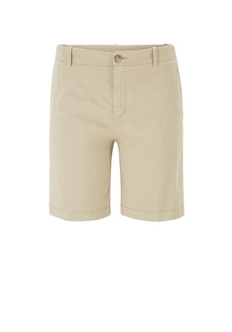 Regular-fit chino shorts in stretch cotton satin BOSS | Trousers | 50423518266