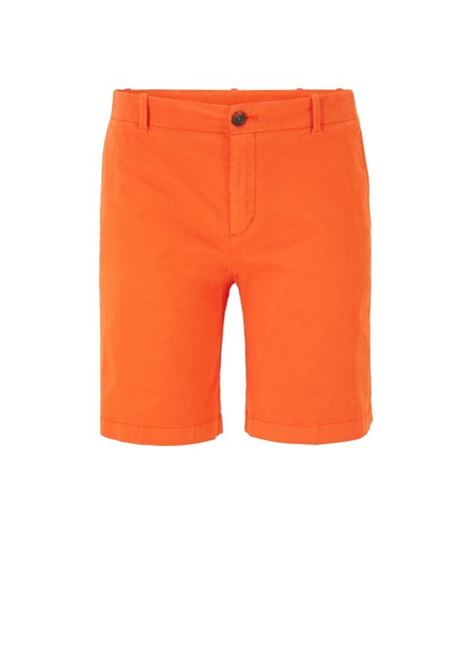 Regular-fit chino shorts in stretch cotton satin BOSS | Trousers | 50423518820