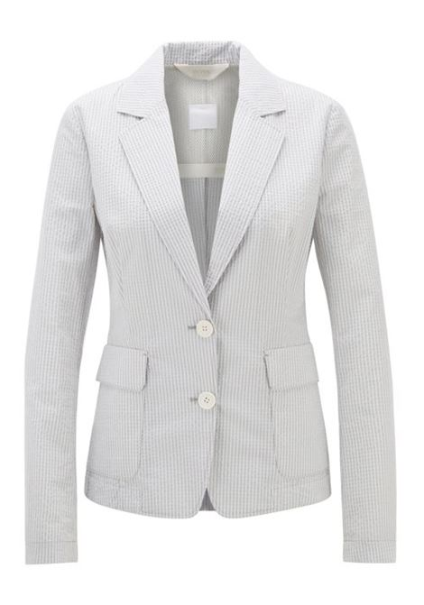 Regular-fit jacket in cotton-blend seersucker BOSS | Blazers | 50423533976