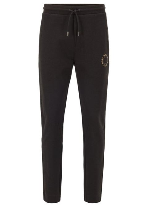 Regular-fit jogging trousers with layered metallic logo BOSS | Trousers | 50423599012