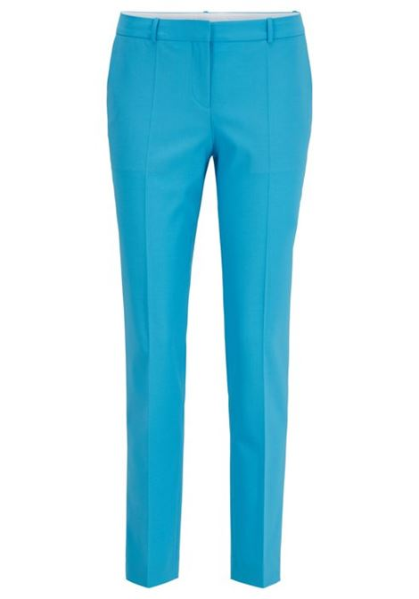 Regular-fit trousers in traceable merino wool with stretch BOSS | Trousers | 50423906432