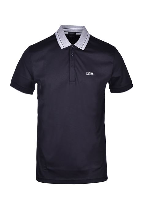 polo paddy with multicolor collar - black BOSS | Polo Shirts | 50424198001
