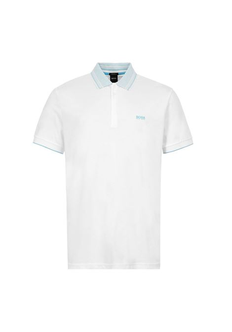 polo paddy with multicolor collar - white BOSS | Polo Shirts | 50424198100