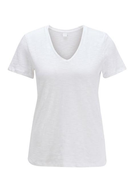 V-neck T-shirt in slub cotton BOSS | Sweaters | 50424864100