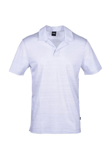 Johnny-collar polo shirt in cotton piqué - light pastel grey BOSS | Polo Shirts | 50424988050