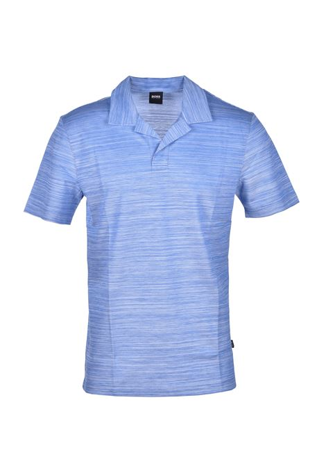 polo pye johnny collar crafted cotton - medium blue BOSS | Polo Shirts | 50424988426