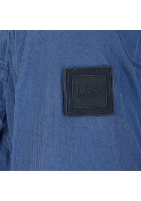 Hooded jacket in shiny wrinkled effect fabricOdear1-D model - 50425136 BOSS | Jackets | 50425136414