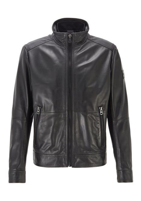 Slim-fit aviator jacket in leather Joles 50425575 BOSS | Jackets | 50425575001