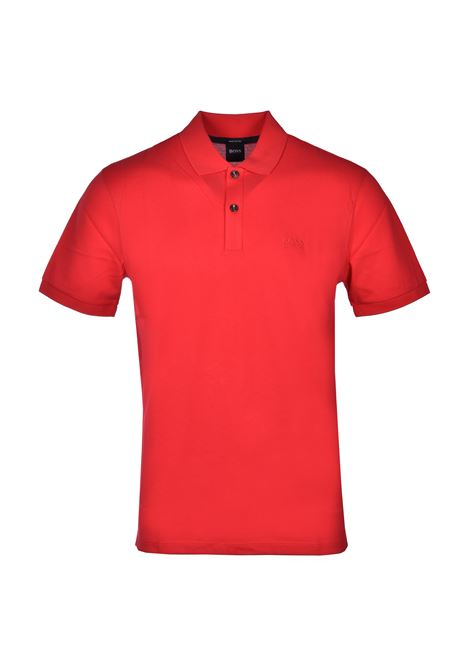 Polo pallas regular-fit two-button - medium red BOSS | Polo Shirts | 50425985617
