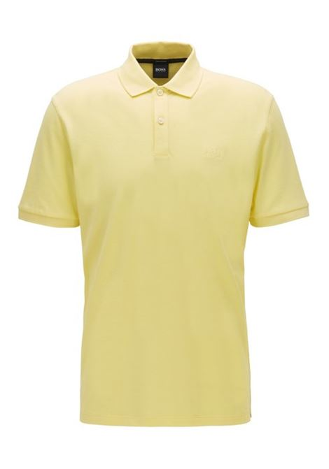 Polo pallas regular-fit two-button - bright yellow BOSS | Polo Shirts | 50425985738