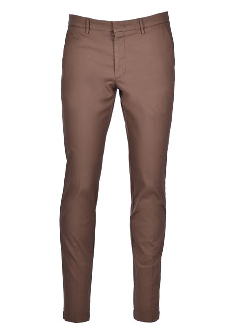 Slim-fit chinos in overdyed stretch-cotton jacquard BOSS | Trousers | 50426114254