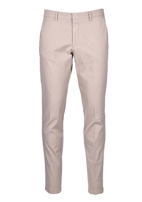 Slim-fit chinos in overdyed stretch-cotton jacquard BOSS | Trousers | 50426114275