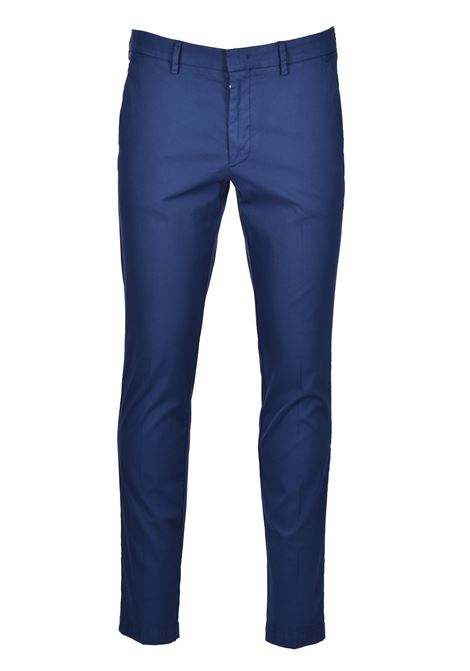 Slim-fit chinos in overdyed stretch-cotton jacquard BOSS | Trousers | 50426114473