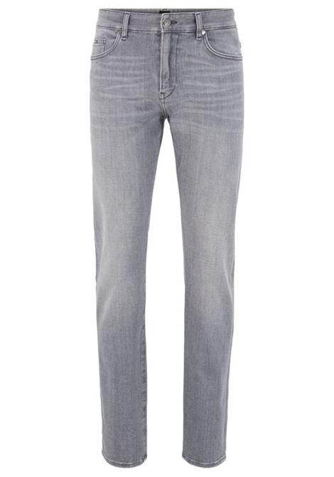 Jeans slim fit in morbidissimo denim elasticizzato grigio BOSS | Jeans | 50426423050