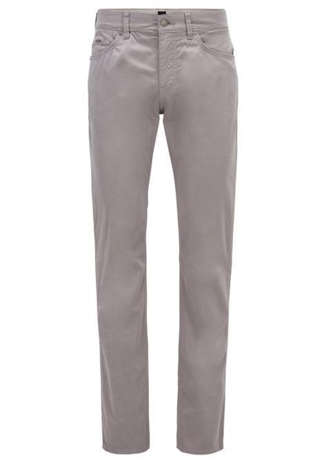 Delaware Jeans slim fit in denim effetto satin - Argento BOSS   Jeans   50426629042
