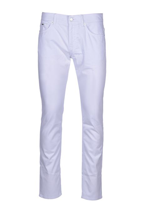 Slim-fit jeans in satin-stretch denim with monogram lining BOSS | Jeans | 50426629100