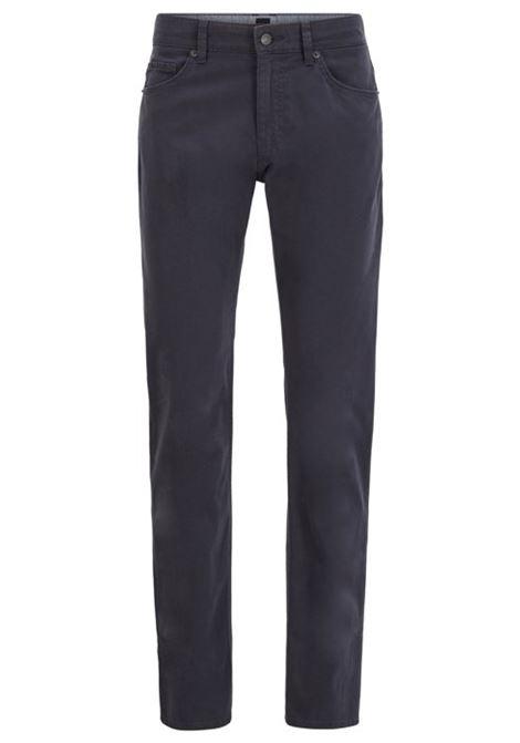 Delaware Jeans slim fit in denim effetto satin - Blu scuro BOSS   Jeans   50426629401