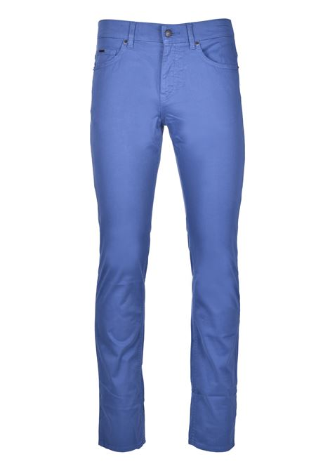 Slim-fit jeans in satin-stretch denim with monogram lining BOSS | Jeans | 50426629479