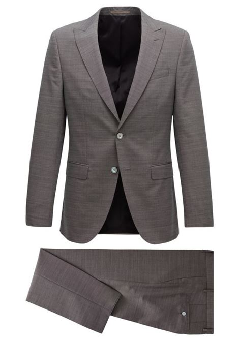 Slim-fit suit in virgin wool and silk BOSS   Dresses   50427006062