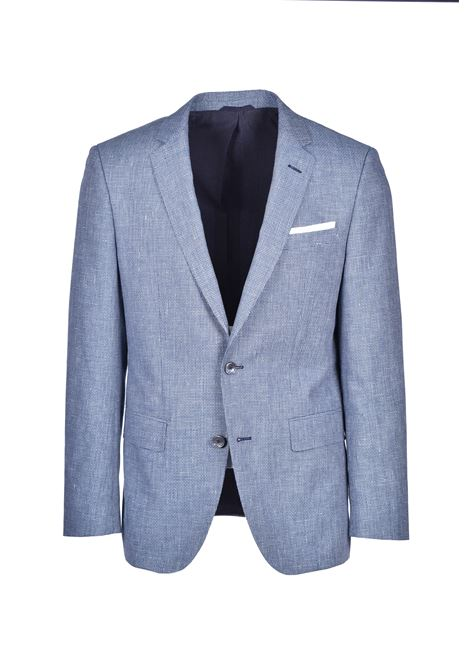 Slim-fit jacket in virgin wool and linen BOSS | Blazers | 50427017426