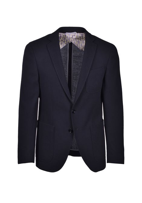 Slim-fit jacket in patterned virgin-wool serge BOSS | Blazers | 50427031001