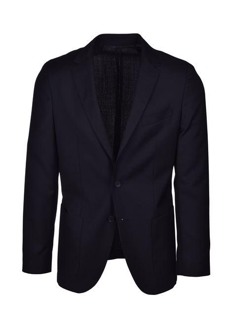 nolin brider Abito slim fit in serge di lana vergine a motivi - nero BOSS | Abiti | 50427045001