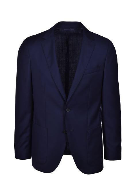 nolin brider Slim fit dress in patterned virgin wool - dark blue BOSS | Dresses | 50427045402