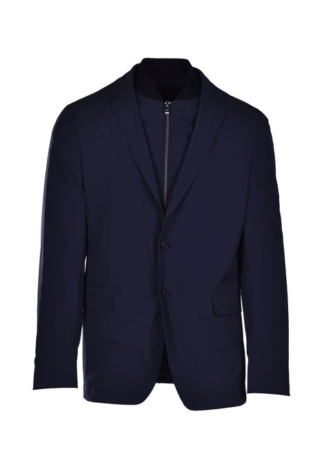 hentrik 2-in-1 slim fit jacket in stretch fabric - dark blue BOSS | Blazers | 50427188402