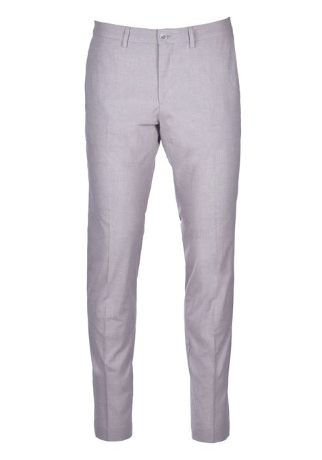 Wilson Extra-slim-fit trousers in stretch cotton - grey BOSS | Trousers | 50427200050
