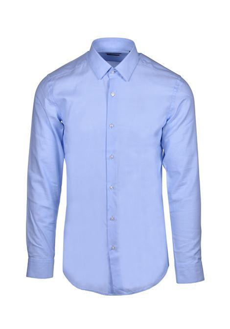 isko camicia classica a nido d'ape- Celeste BOSS   Camicie   50427201450
