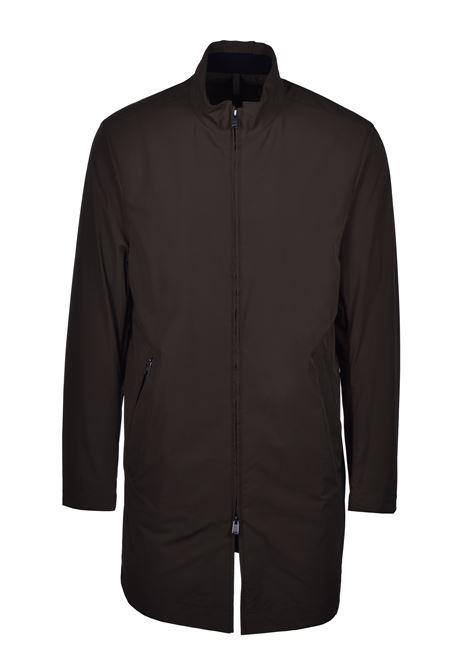 deean Cappotto slim fit idrorepellente con colletto rialzato - verde scuro BOSS | Cappotti | 50427242342