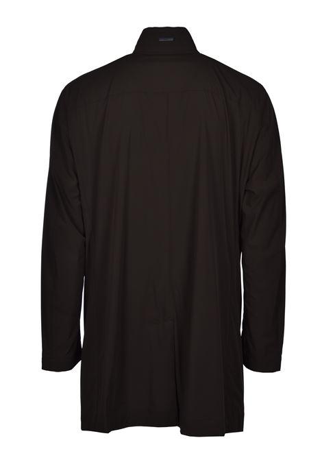 deean Cappotto slim fit idrorepellente con colletto rialzato - verde scuro BOSS   Cappotti   50427242342