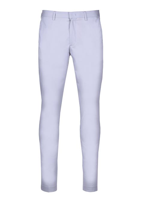 Slim-fit pants in paper-touch stretch cotton - light pastel grey BOSS | Trousers | 50427464050