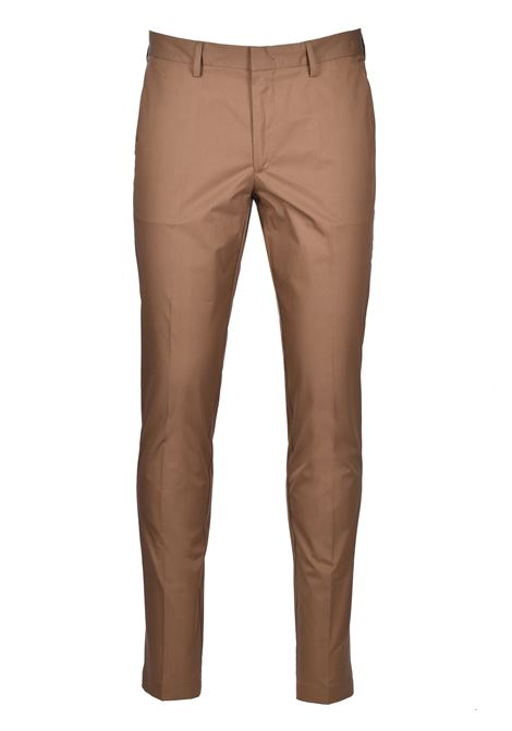 Slim-fit pants in paper-touch stretch cotton - light pastel brown BOSS | Trousers | 50427464232