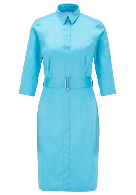 Trench-inspired shirt dress in a stretch-cotton blend BOSS | Dresses | 50427524432
