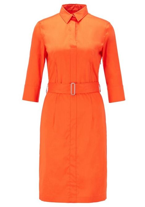 Trench-inspired shirt dress in a stretch-cotton blend BOSS | Dresses | 50427524820