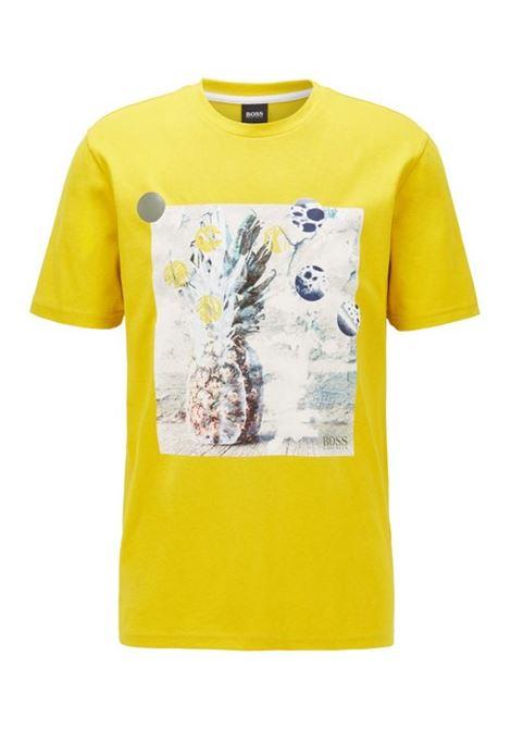 T-shirt in puro cotone riciclabile con stampa fotografica priva di PVC BOSS | T-shirt | 50427914723