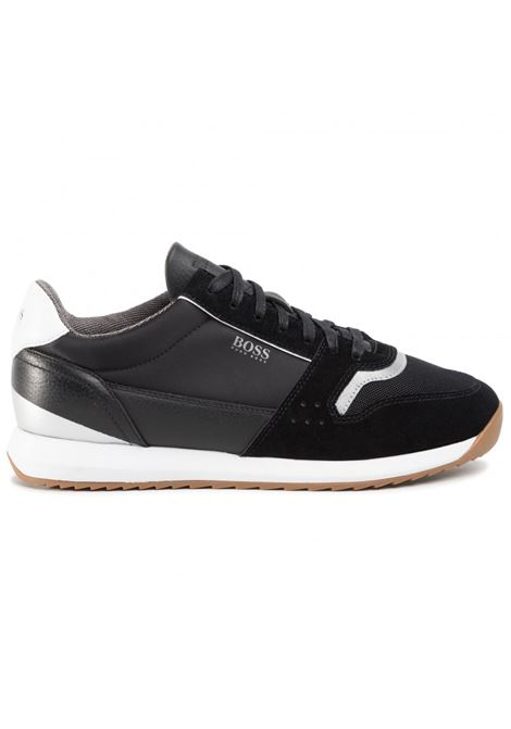 Running-style trainers in mixed materials BOSS | Shoes | 50428381001
