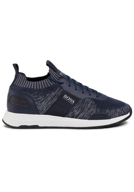 Titanium Sneakers runner in materiali misti - blu scuro BOSS | Scarpe | 50428541401