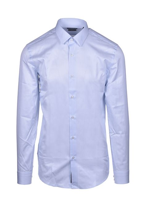 isko striped slim fit classic shirt - light pastel blue BOSS | Shirts | 50429442451