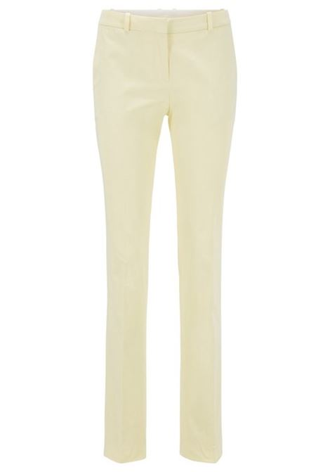 Pantaloni regular fit in satin di cotone elasticizzato BOSS | Pantaloni | 50429532741