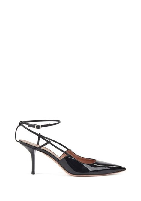 Heeled slingback pumps in patent and calf leather BOSS | Shoes | 50429771001