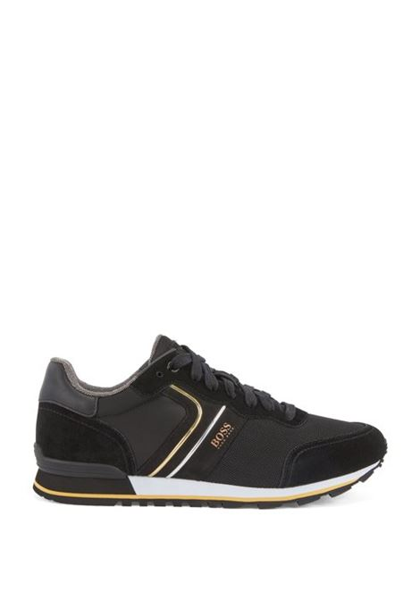 Parkour Sneakers runner in pelle scamosciata - nero BOSS | Scarpe | 50433661007
