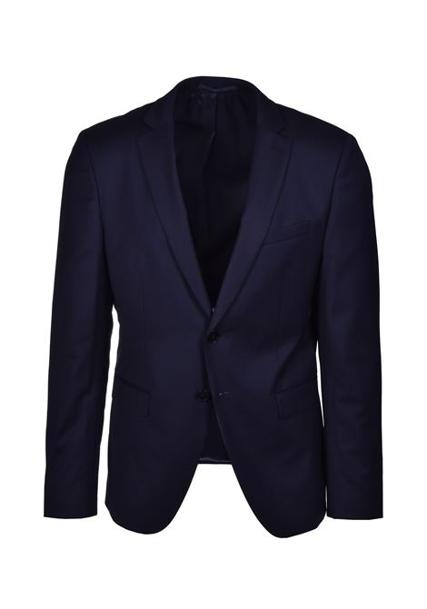 reymond wenten Extra slim fit three piece suit in virgin wool - dark blue BOSS | Dresses | 50434008402