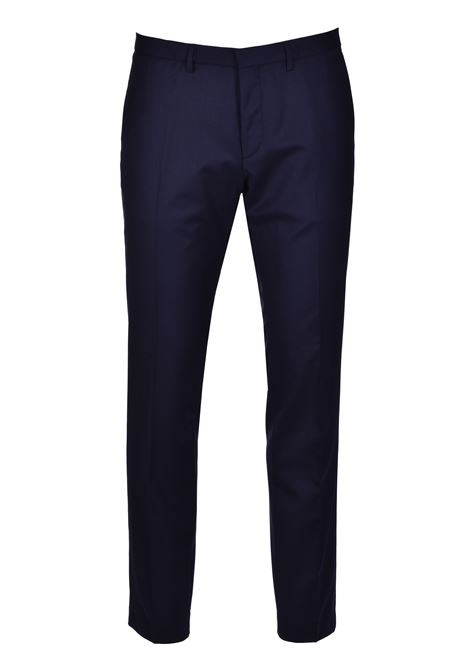 reymond wenten Extra slim fit three piece suit in virgin wool - dark blue BOSS | Dresses | 50434008402