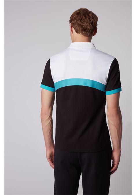 paule 3 Polo slim fit con blocchi di colore curvi - nero BOSS | Polo | 50434257001