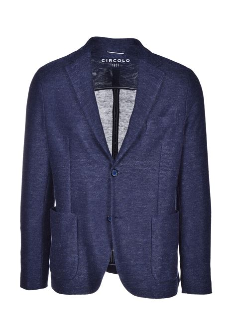 Men's blazer in linen and cotton - dark blue CIRCOLO 1901 | Blazers | CN26883320